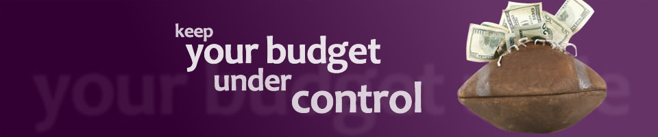your budget under control